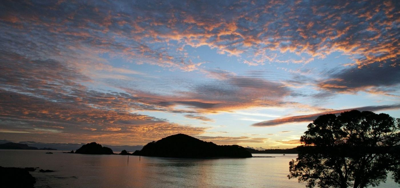 Sunsets in Paihia, New Zealand